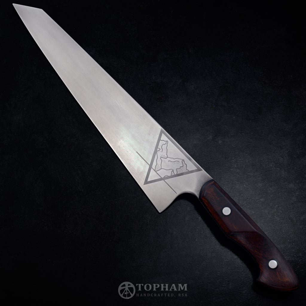 250mm K-tip Gyuto 1084 and leadwood