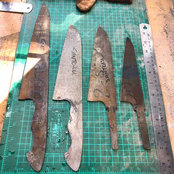 Final Profiling of knife blanks