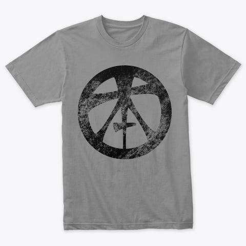 Topham Knife Co Grunge Logo on Grey