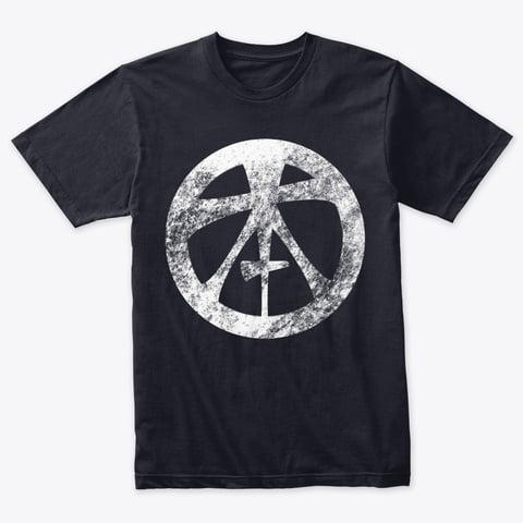 Topham Knife Co White Grunge Logo on Navy