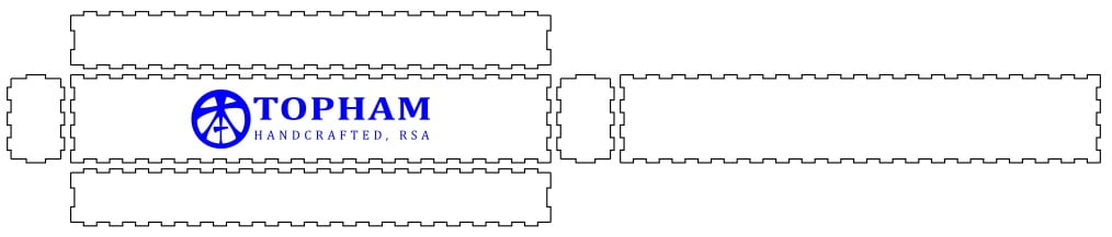 Example of lazer cut box cad drawing in Inkscape