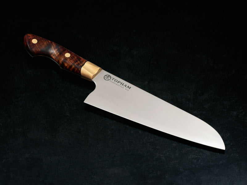 7 inch Western Santoku with Brass and Tambotie handle